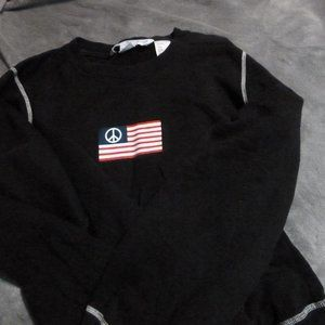 NEW Tommy Hilfiger Cotton Sweater w/ flag logo